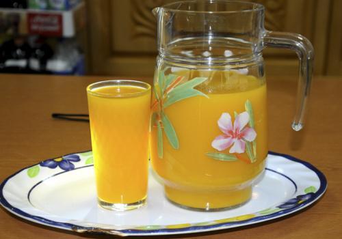 Тыквенный сок на зиму пятиминутка