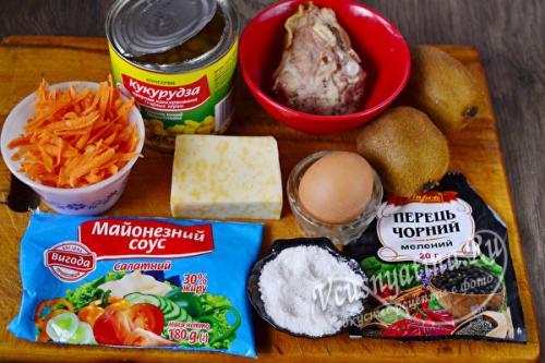 Рецепт салата изумрудный браслет с киви. Салат «Изумрудный браслет» с киви и курицей