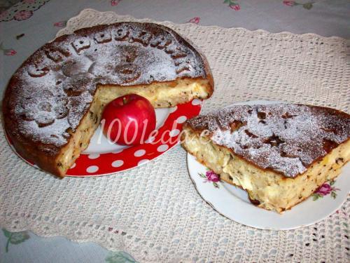 Пирог с творогом и яблоками на кефире. Пирог с творожно-яблочной начинкой