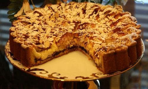 Песочный пирог с творогом и яблоками. Рецепт песочного пирога с творогом и яблоками
