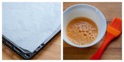 Булочки с сыром и ветчиной из слоеного теста рецепт.