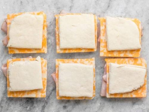 Выпечка с ветчиной и сыром – пошаговый рецепт с фото на