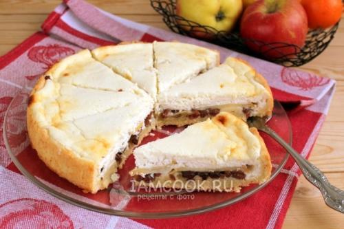 Королевский пирог с творогом и яблоками из песочного теста. Песочный пирог с яблоками и творогом