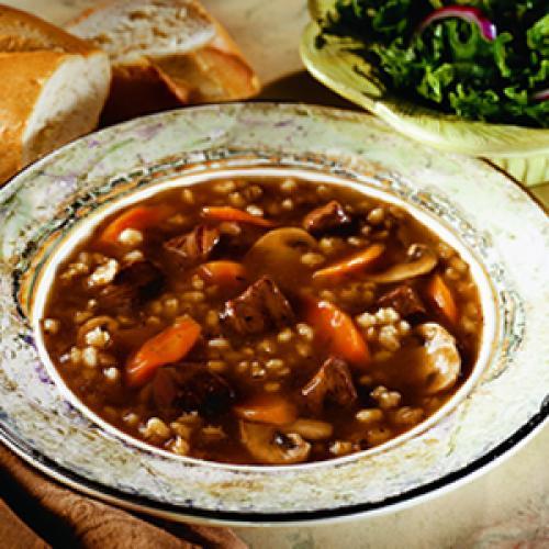 Суп с перловкой мясом и грибами. Грибной суп с мясом и перловкой