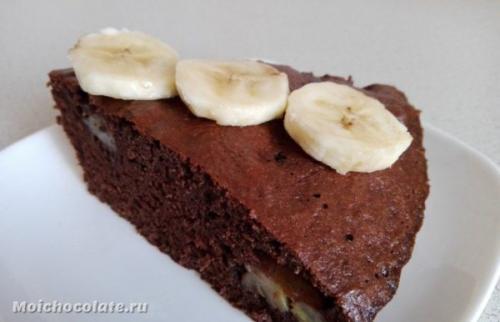 Шоколадно-банановый пирог. Бананово шоколадный пирог