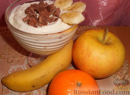 Творожно банановый крем ПП. Рецепт 3:творожно-банановый крем (с фото)