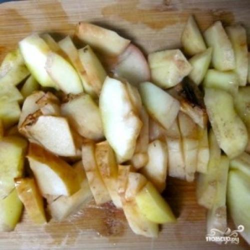 Утка в духовке с яблоками. Утка с яблоками
