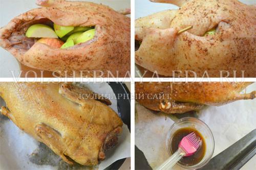 Как правильно запекать утку в духовке в фольге. Утка, запеченная целиком с фруктами (рецепт с пошаговыми фото)