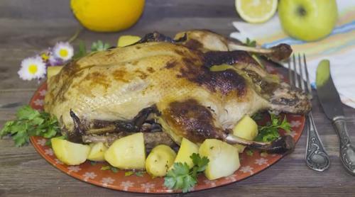 Как приготовить утку в духовке целиком. Рецепт утки запеченной в духовке