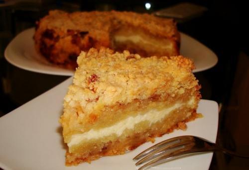 Рецепт тертый пирог с творогом и яблоками. Тертый пирог с творогом