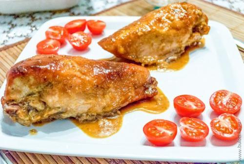 Куриная грудка в горчичном соусе в духовке.