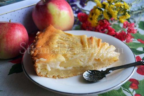 Цветаевский пирог с персиками пошаговое приготовление. Цветаевский пирог с яблоками со сметанной заливкой