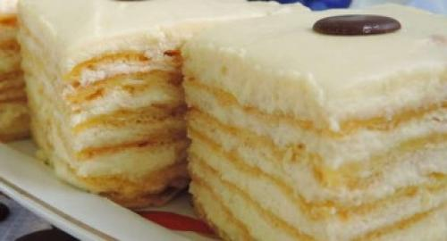 Заварной торт с заварным кремом. Заварной торт