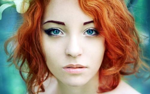 Макияж для голубых глаз и рыжих волос. Какой макияж подходит рыжим?