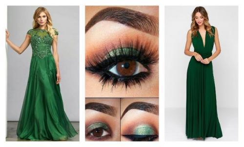 Макияж под черное платье для голубых глаз. Чтобы зеленое платье освежало и выглядело эффектно