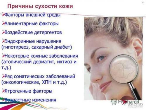 Косметика для сухой кожи. Особенности
