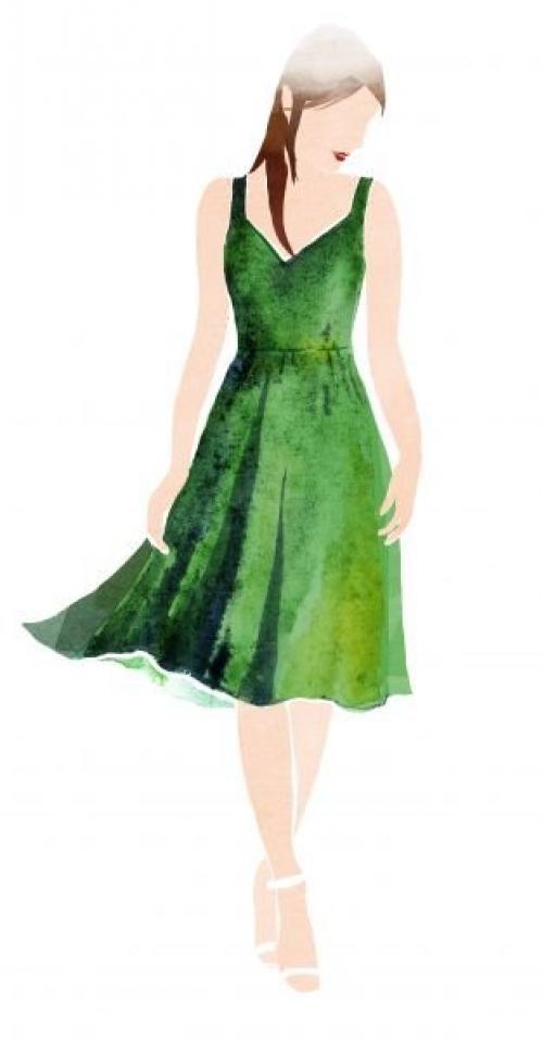 Макияж под зеленое платье: как создать?
