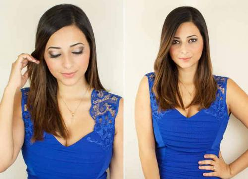 Макияж для синего платья. Вечерний макияж под синее платье