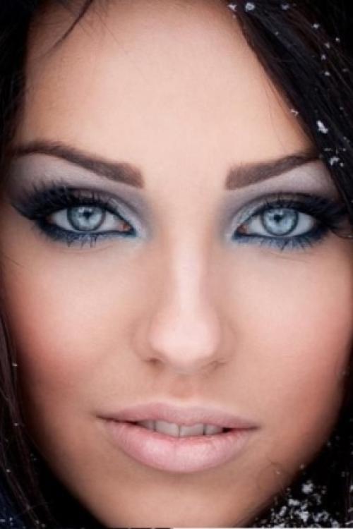 Тени для синих глаз. Макияж для синих глаз