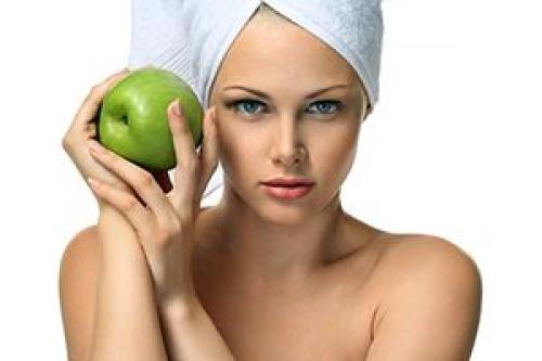Маска с яблоком для лица. Маска для лица из яблок