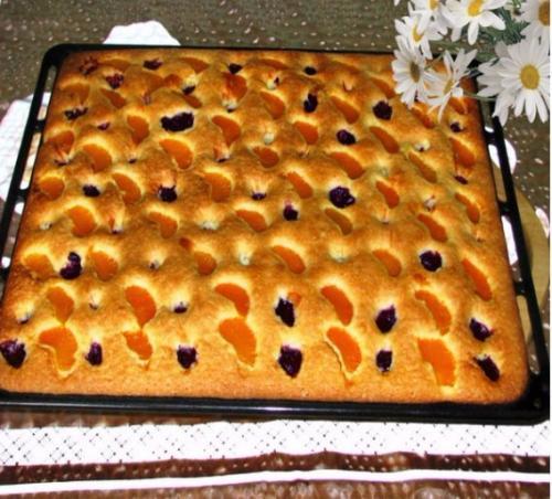 Постный пирог на минералке.