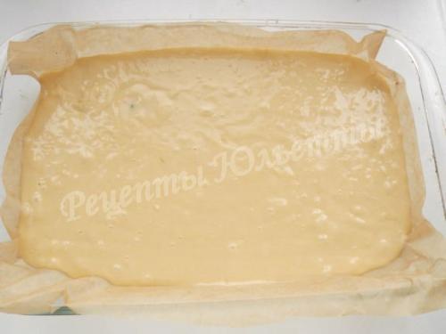 Пирог на минералке с вишней.
