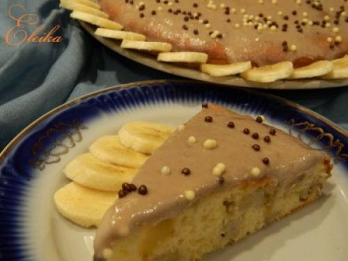 Банановый пирог с кремом