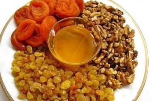 Мед орехи курага изюм для потенции. Чем полезна смесь: мёд, орехи, курага, изюм
