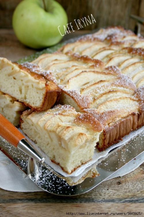 Яблочный пирог старый добрый рецепт.