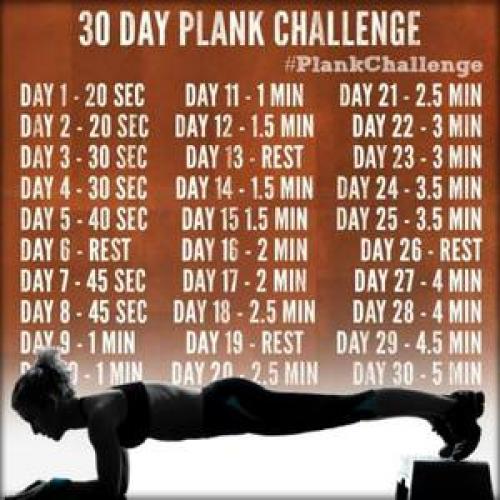 30 дней планки на локтях. Классический вариант