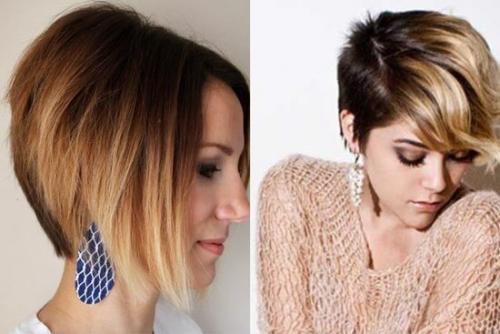 Затемнение корней на короткие волосы. Тёмные корни светлые концы на коротких волосах