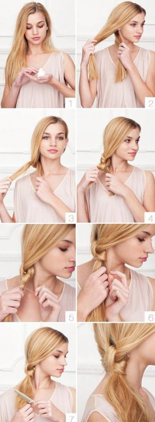 Прически на длинные волосы в домашних условиях. Моментальная вариация причёски на длинных волосах