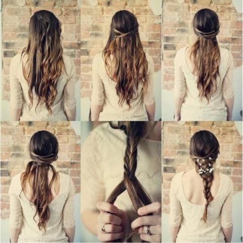 Прически легкие на длинные волосы пошагово. Советы стилистов по прическам на длинные волосы