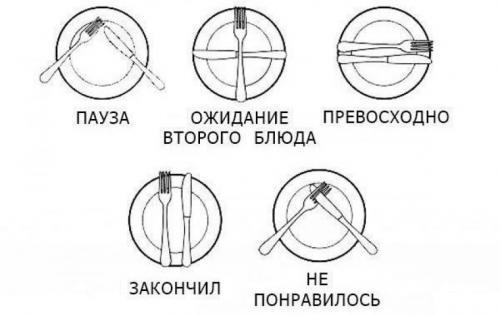 Правила пользования ножом и вилкой за столом. Как правильно пользоваться ножом и вилкой?