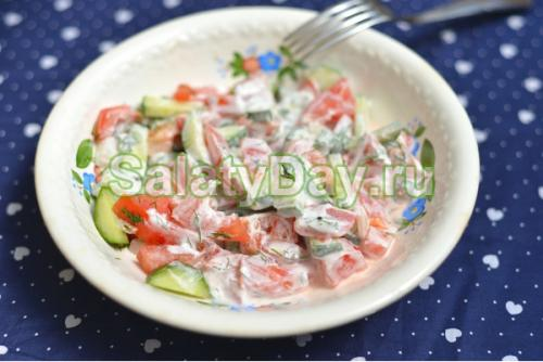 Салат со сметаной на диете. Салаты со сметаной рецепты диетические