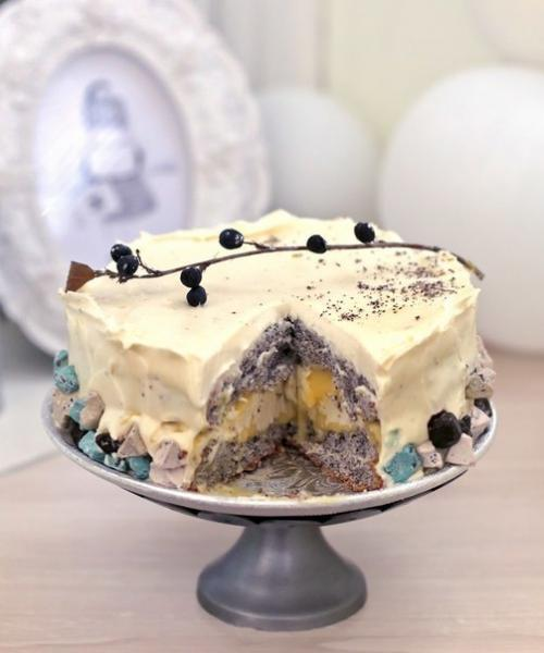Торт Ангельский. Ангельский торт с маком.