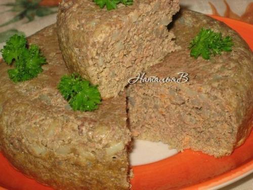 Суфле из печени с рисом. Детское меню - печеночное суфле с рисом.