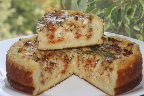 Картофельный пирог мясом рецепт с фото