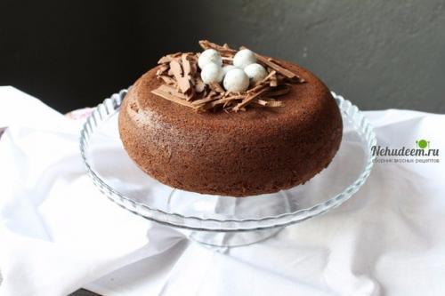 Пирог шоколадно творожный в мультиварке. Шоколадный пирог с творожной начинкой в мультиварке.