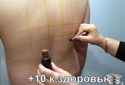 Йодовая сетка для похудения живота и боков. Целебные свойства йодовой сетки
