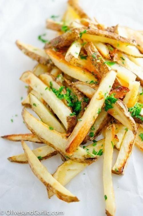 Диетическая картошка по-французски. Жареная картошка по-французски.