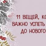 * 11 вещей, которые важно успеть сделать до нового года *.
