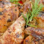 Курица в соевом соусе в духовке.