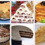 Топ - 6 рецептов самых популярных тортов.