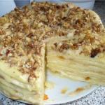 """Торт """"Королевский"""".  Привлекло меня в этом тортике то, что два коржа (песочный и безе) выпекаются вместе!"""