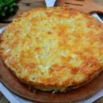 Картофельная запеканка с сыром.