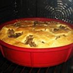 Быстрый пирог на кефире со сметаной - очень вкусно!