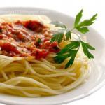 Спагетти по-итальянски.  Нам понадобится: