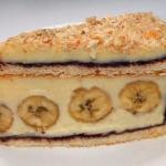Торт с бананами.