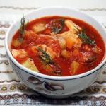 Томатный суп.  Ингредиенты: